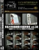 有名大学休憩時間の洗面所事情 Vol.08 高画質フルハイビジョン眼鏡女子が多数出演!