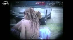 ヒョウガラ下着の茶髪美人、マッチの乗りそうなまつげです。No.10 裏DVDサンプル画像