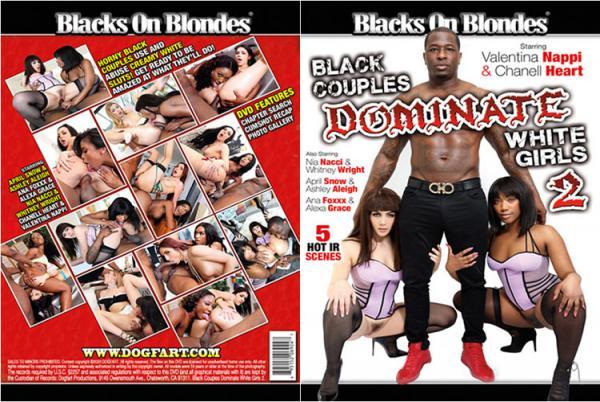 黒人カップルは白女の子を支配する2