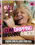 精液たらたらと滴るばあちゃんの顔