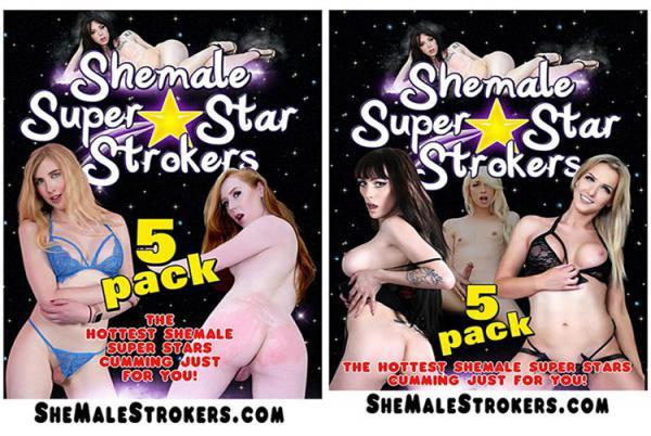 シーメール スーパー スター ストローカーズ 5 パック (5枚組)